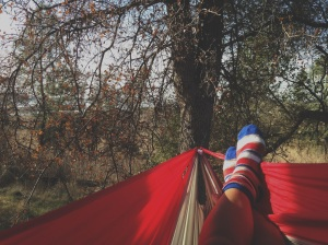 This photo was sent to us by Ashlyn in California, who has really come to love her Easy Traveller Hammock.